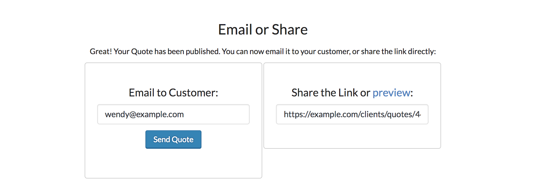 Send a Quote via Email from ZBS CRM