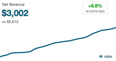 ZBS CRM Sales Metrics - Net Revenue