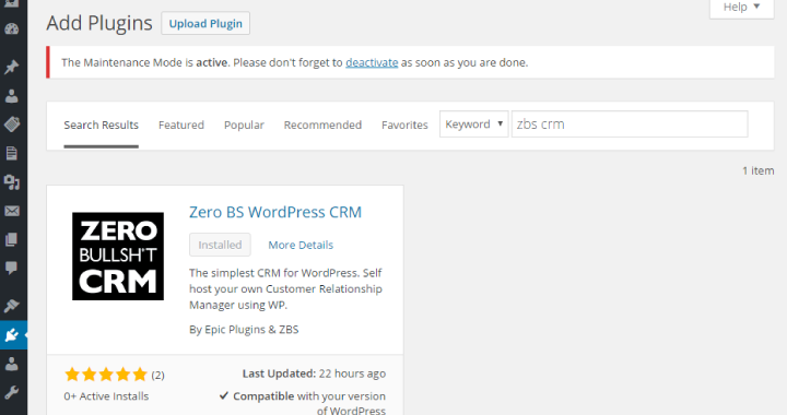 CRM dentro WordPress