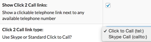 Easy - 2 settings to set up click-to-call in ZBS