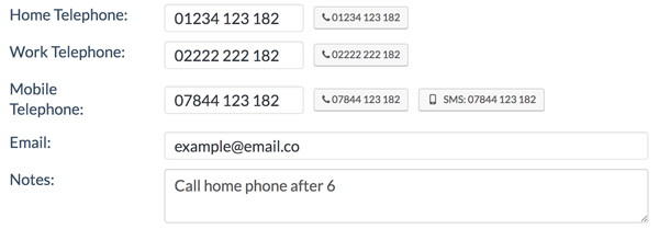 Call different phones with click2call in Zero BS CRM for WordPress