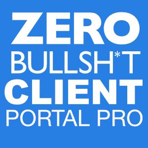 Zero BS CRM: Client Portal Pro