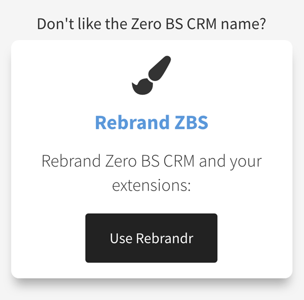Hosted CRM Rebranding service on Zero BS CRM .com