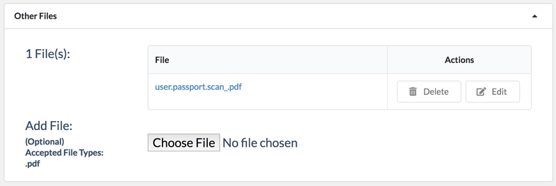 File attached to contact in Zero BS CRM