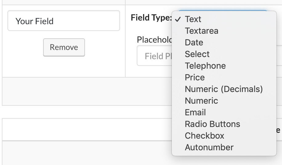 The WordPress CRM with the Most Custom Field Types