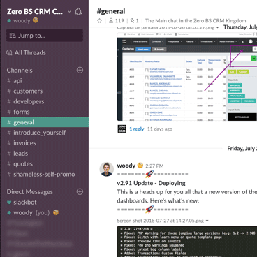 Zero BS CRM Developers in Slack Community Chat