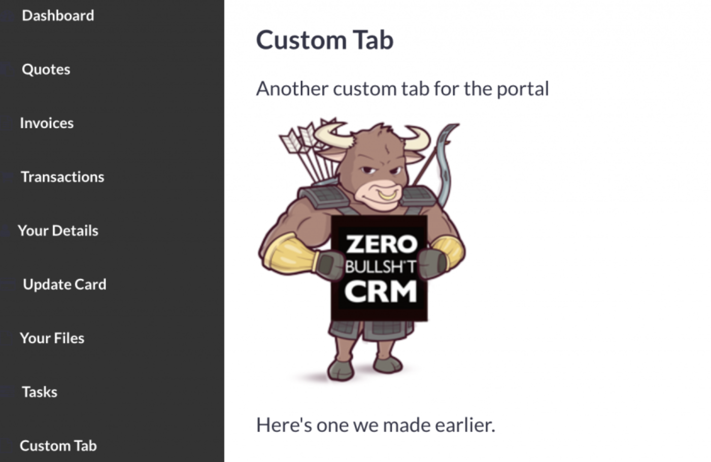 Custom Pages in Portal
