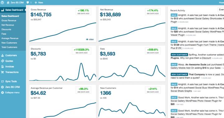 Baremetrics Sales Dashboard